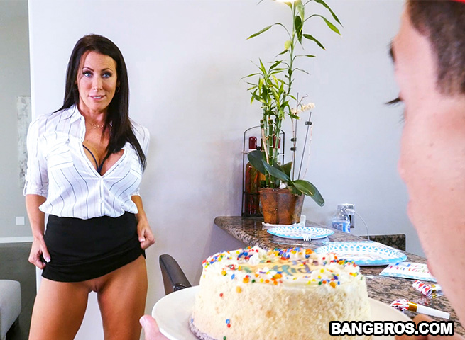 Hot milf for his birthday